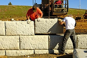Install a Retaining Wall in Conroe