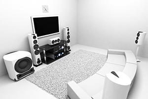 Install Home Theater Surround Sound System in Range