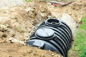 separate septic tank for washing machine