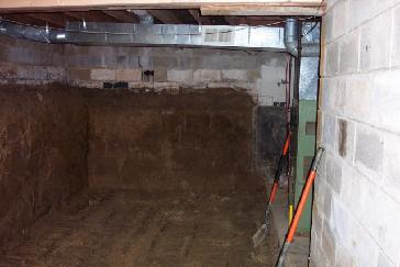 made a crawl space into a full basement pictures and photos