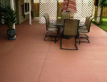 Image 1 of 1 : concrete patio stain