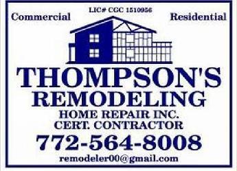 Bathroom Remodeling Vero Beach Fl thompsons remodeling & home repair, inc. | vero beach, fl 32961