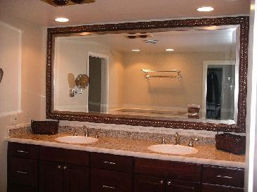 Master bathroom pictures and photos for Custom made mirrors for bathrooms