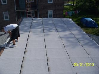 12. White Granulated Rubber Roof ...