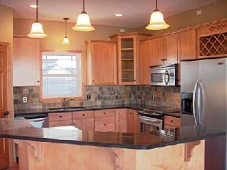 Kitchen makeovers with new cabinets and granite pictures and photos