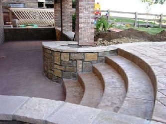 Walk out patio pictures and photos for Walkout basement backyard ideas