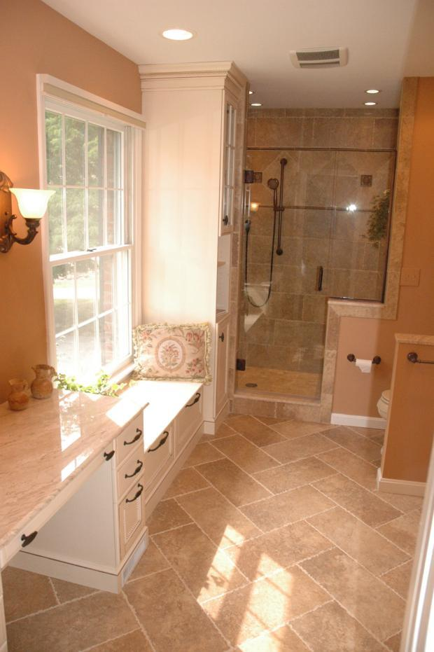 Traditional Bathroom In Sacramento Light Tan Country