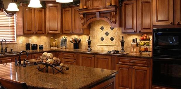 French Country Kitchen In Studio City Granite Counters