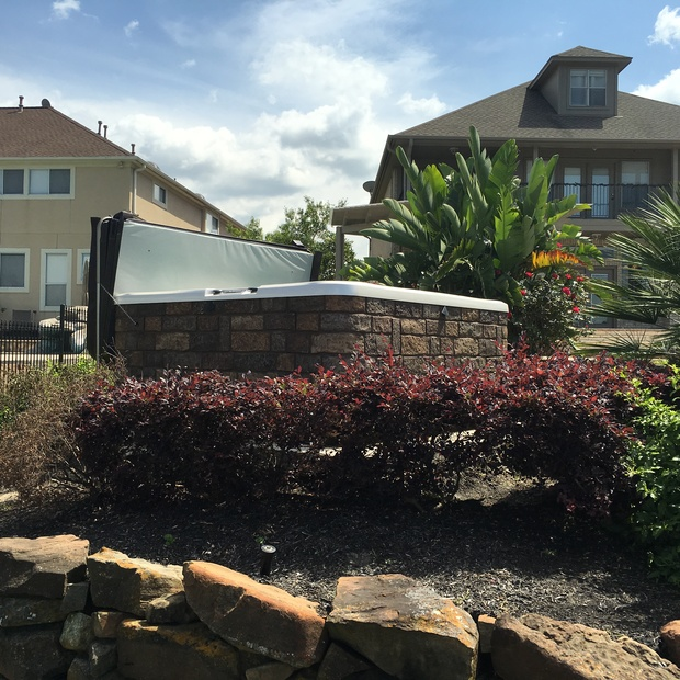 Landscaping Boulders Houston : Traditional landscape in houston boulders above ground