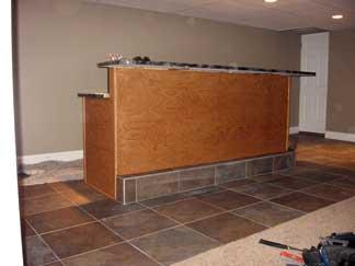 Basement Finish With Custom Bar Pictures And Photos