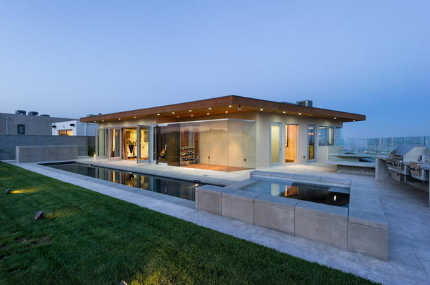 Contemporary Patio In Los Angeles Contemporary Pool Pool By Gubel And Associates Inc