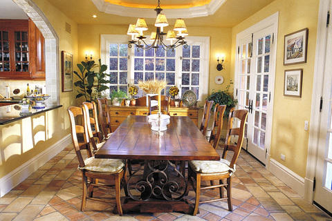 Traditional Dining Room with traditional style dining room