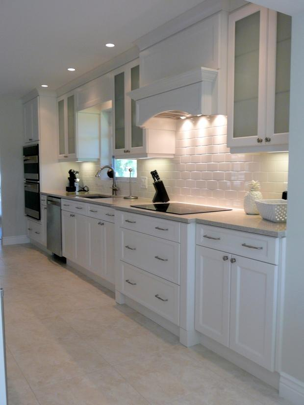 Contemporary Kitchen In Pompano Beach Flat Stove Top