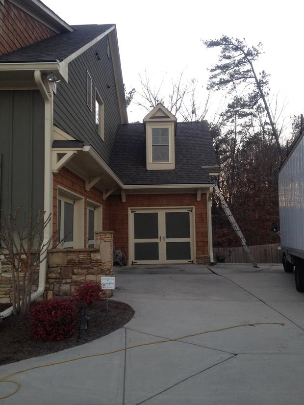 Cape cod garage in lawrenceville paved driveway three for Shingle art cape cod