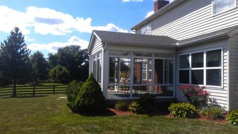 Traditional Sunroom with full window sun room
