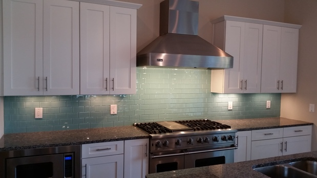 Arts Crafts Kitchen In Virginia Beach Ceiling Mount Vent Hood Undermount Double Sink By