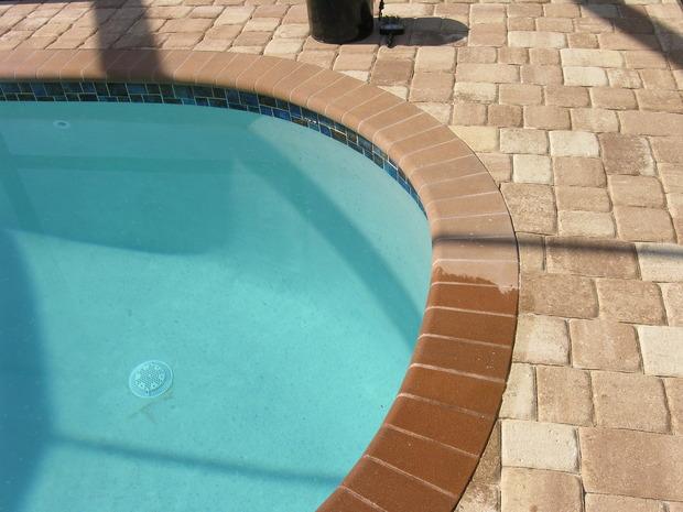 Mediterranean pool in fort myers in ground pool gunite for Inground pool coping paint