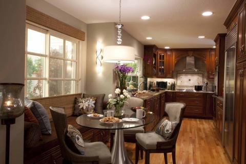Add To Transitional Dining Room With Upholstered Bench For Kitchen Nook