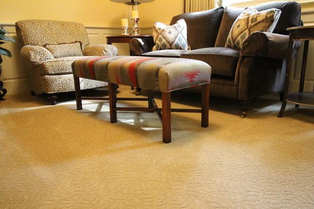 Southwestern Den In Dayton Sofa Sculptured Carpet By