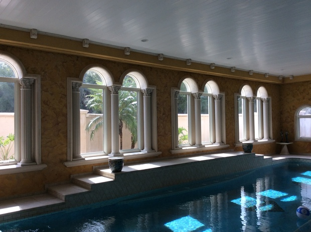 Pool In Tampa Faux Finished Walls Indoor Pool By Classic Stone Gallery Inc