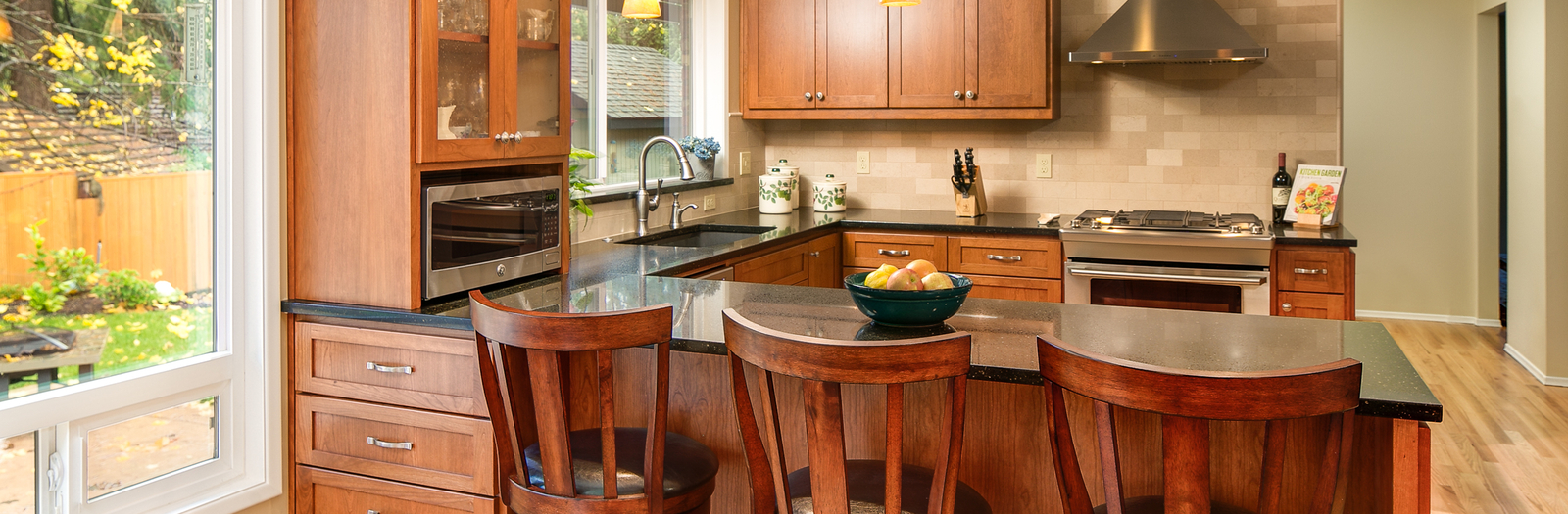 Contemporary Kitchen with shaker style kitchen cabinets