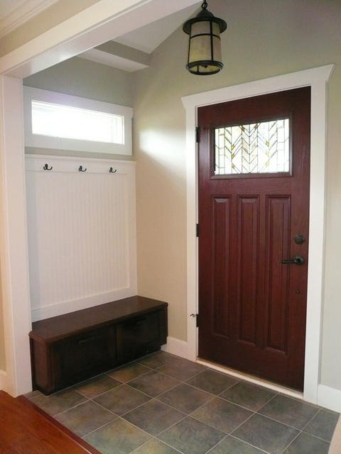 Traditional Entry with traditional style entry with coat rack and storage bench
