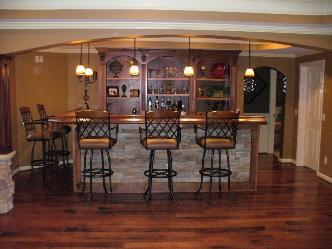 Finish Basement and full bar rennovation Pictures and Photos