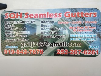 Sqh Seamless Gutters Raleigh Nc 27610 Homeadvisor