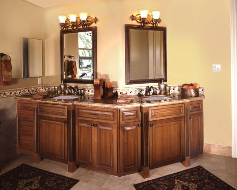 Traditional Master Bathroom with oil rubbed bronze fixtures