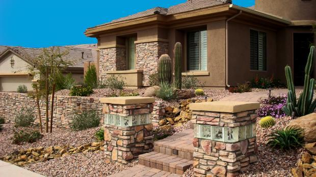 Southwestern Home Exterior In Phoenix Desert Steps By