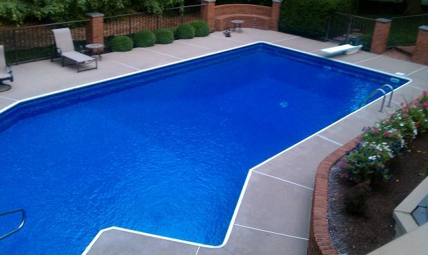 Traditional pool in hamilton black brick wall by for Pool design hamilton