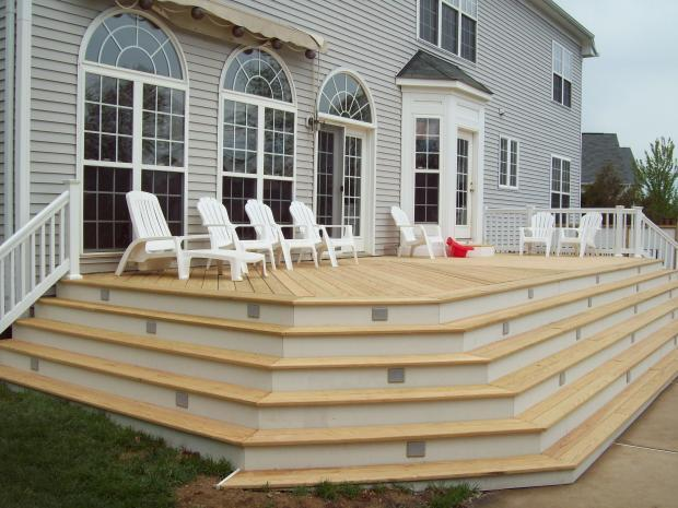 Cape Cod Deck With Steps All Around Deck