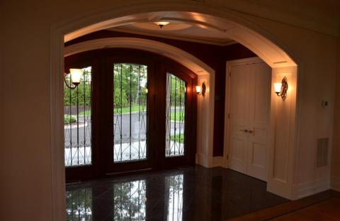 Traditional Entry with picture frame moulding