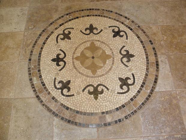 Western Inlay Floor Tile Circular Design : Traditional porch in san antonio decorative tile floor