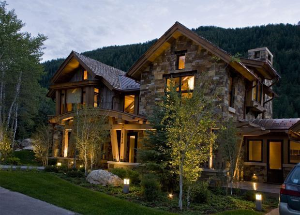 Rustic Home Exterior In Steamboat Springs Wood Casement