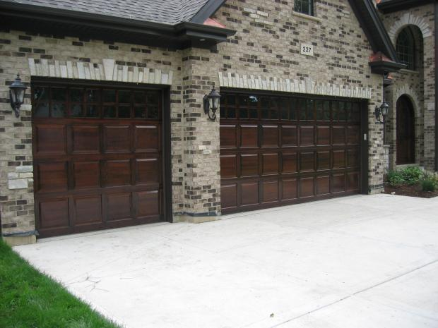Traditional Garage In Downers Grove Brown And Beige Brick