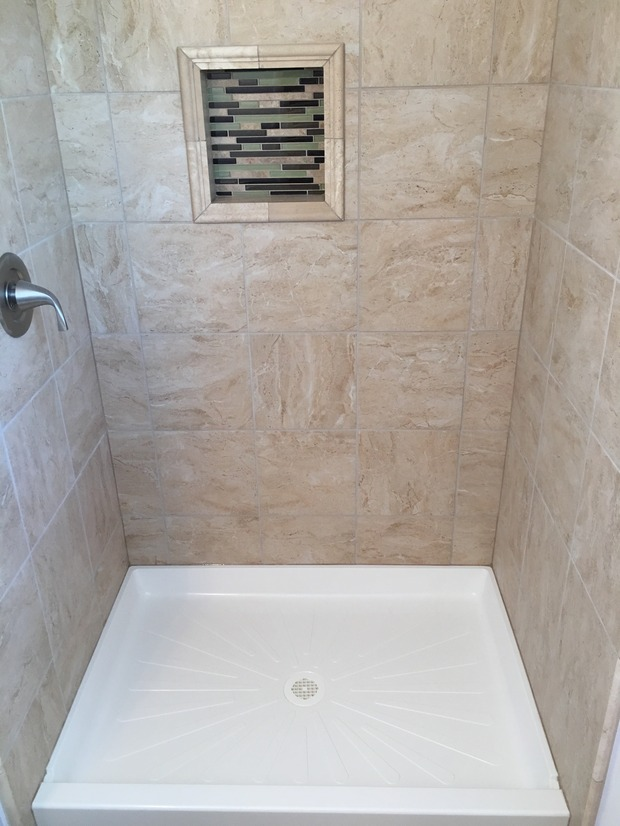 Contemporary Bathroom In Glen Burnie Acrylic Shower Pan