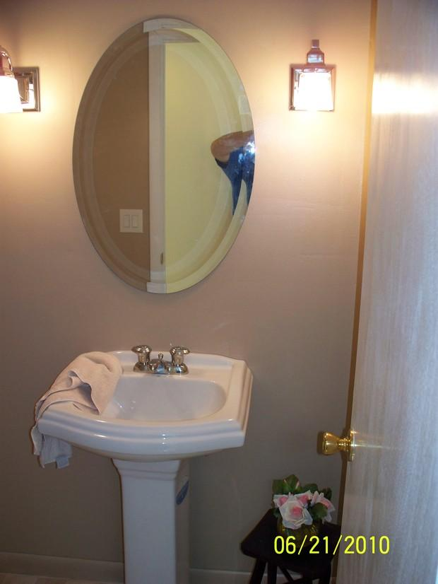 English country bathroom in tillson oval vanity mirror for English country bathroom designs