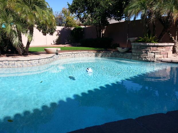 Casual / Comfortable Pool in Phoenix - brick wall, in ...