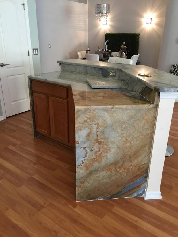 Contemporary Kitchen In Sarasota Eat In Kitchen Center Island By Eclipse Tile Marble Inc