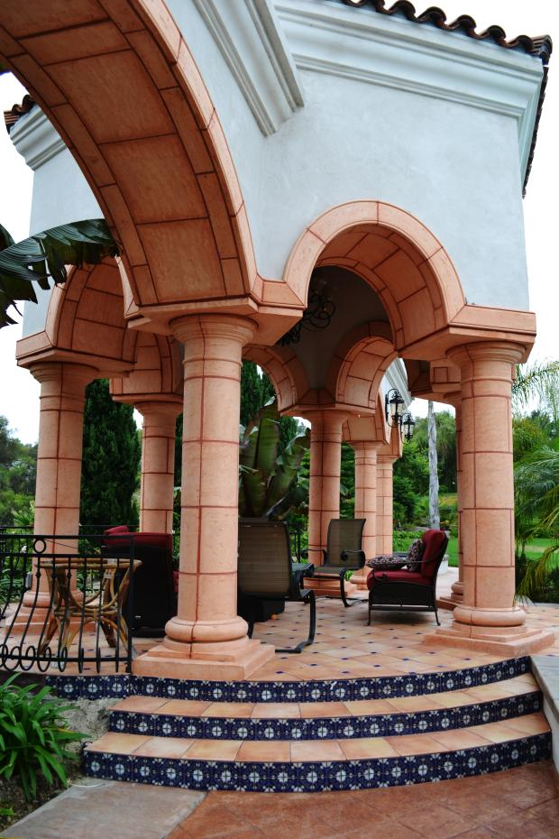 Tuscan Patio with spanish colonial revival