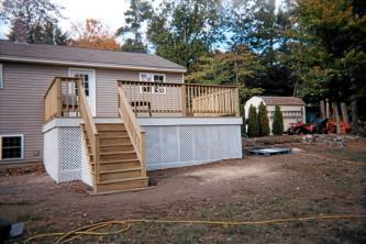 Deck in Acton ME built by Wayne Patterson