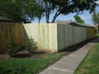 Pine Privacy W Rot Board Fences Pictures And Photos