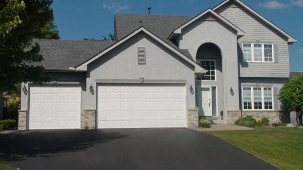 Dark gray stucco house pictures