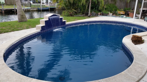 Transitional Pool In Sunrise Lake View Privacy Fence