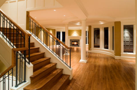 Traditional Entry with wainscoting wood paneling