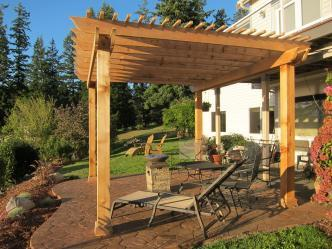 Pergola Amp Stamped Concrete Patio Pictures And Photos