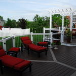 Transitional Deck with brown composite deck