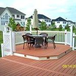 Transitional Deck with multi-level deck