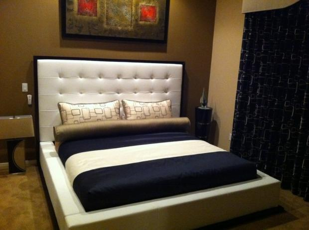 . Contemporary Bedroom in Surprise   gold carpet  carpet floor   by